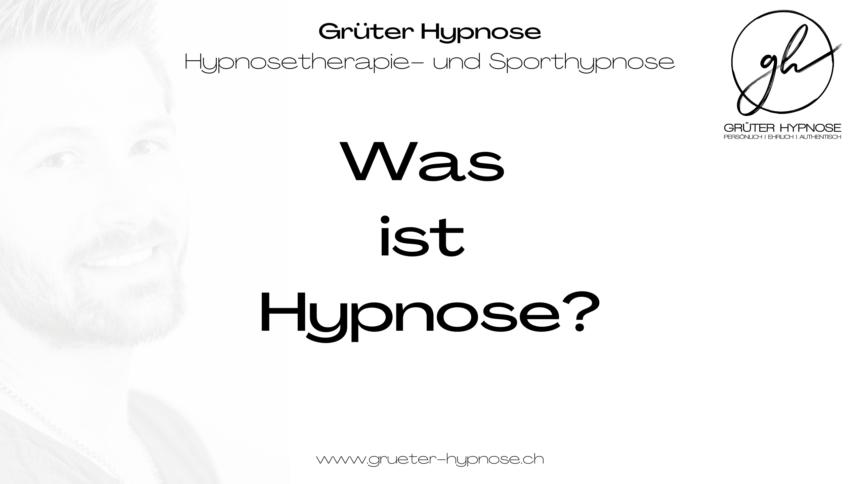 Was ist Hypnose – kurz erklärt